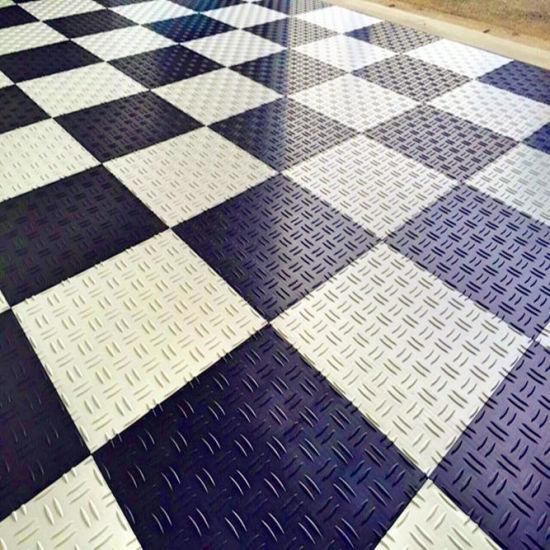 Diamond Pvc Interlocking Plastic Garage Flooring Outdoor Floor Tiles For