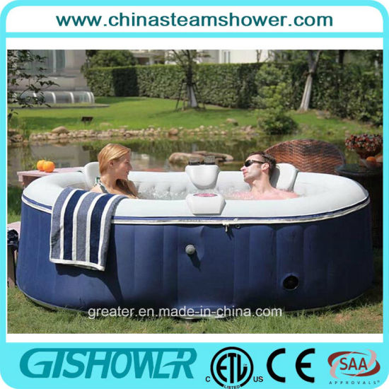 Cheap 2 Person Indoor Inflatable Hot Tub (pH050012 Blue)