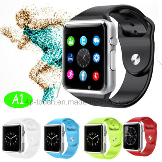 Cheapest Fitness Tracker Camera Smart Watch with SIM Card Slot A1 pictures & photos