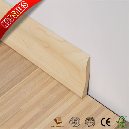 China 60mm Mdf Laminate Flooring Accessories Skirting Wallboard