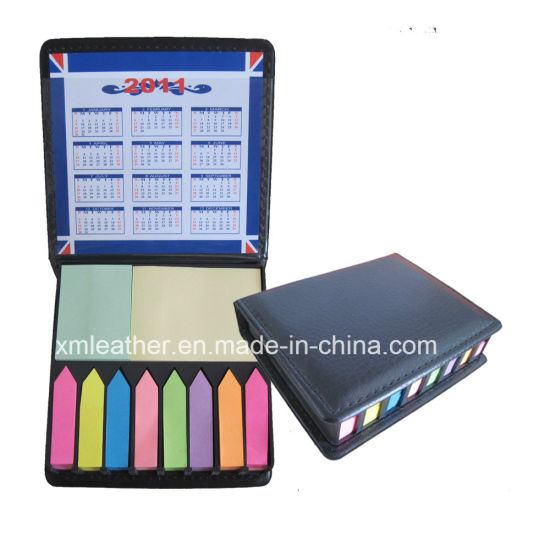 Novelty Design Synthetic Leather Note Box with Color Paper