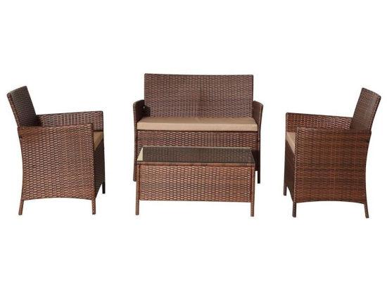 China 4pcs Brown Garden Classics Patio Furniture China Garden