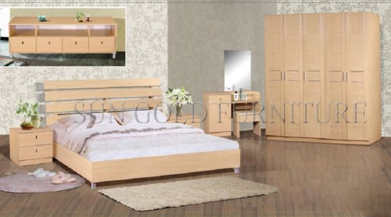 Modern High Quality Bedroom Furniture Luxury Wooden Bed Sets (SZ-BF081)