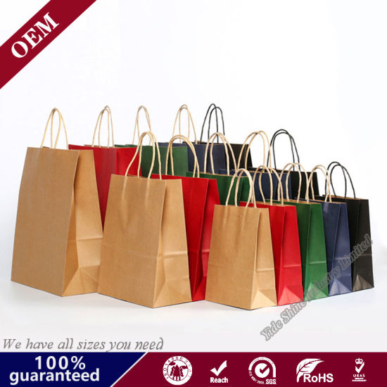 Made to order Custom Craft paper bags. 100 custom made paper bags