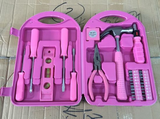 china 29pcs pink tool set, ladies pink tool box, household pink tool ...