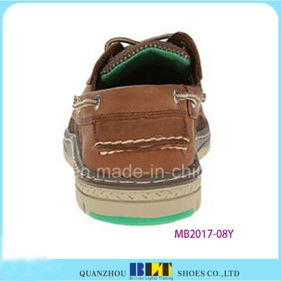Brown Leather Boat Shoes pictures & photos