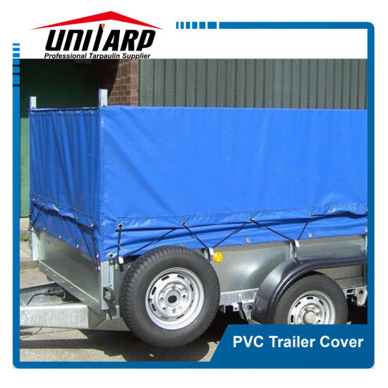 Plain or Printed 520GSM PVC Canvas Cage Trailer Cover pictures & photos