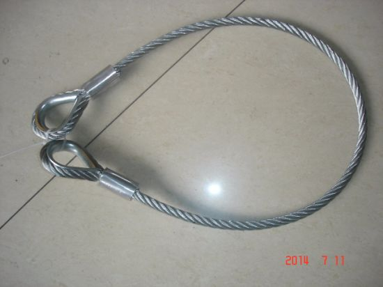 China Wire Rope Sling with Solid Pressed Thimble and Ferrule - China ...