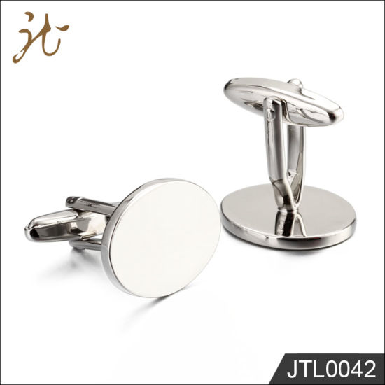 Fashion Nice Quality Polished Stainless Steel Cuff Buttons in Bulk pictures & photos