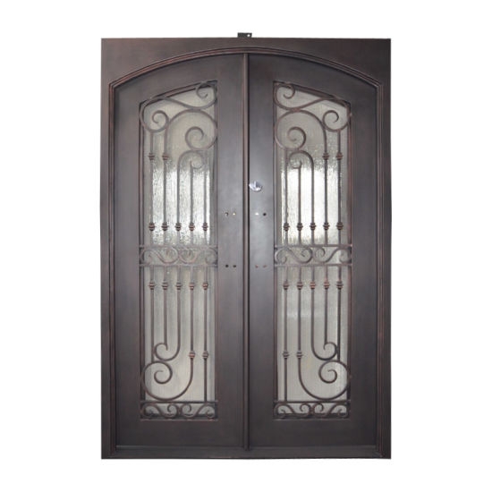 China Customized Wholesale Front Iron Door and Glass Entry Doors ...