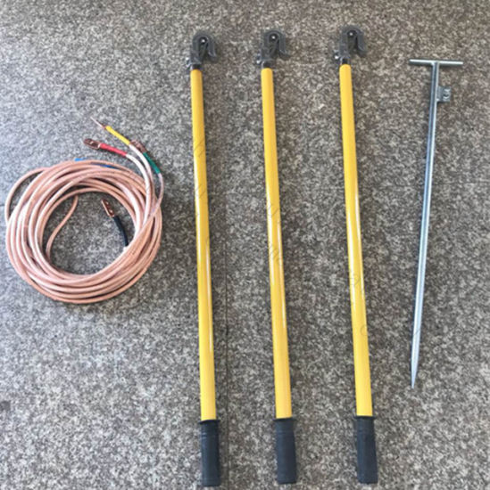 Portable Telescopic Ground Earth Rod with Earthing Wire and Clamp