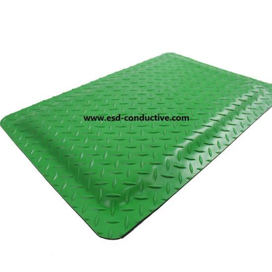 Green Color Anti-Static ESD Anti-Fatigue Rubber Mat