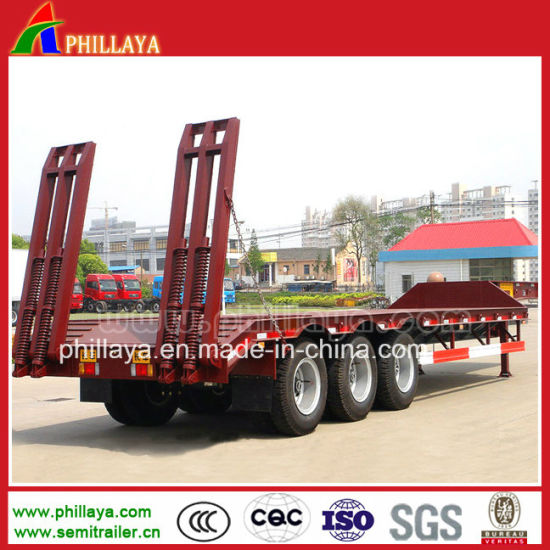 60ton Heavy Detachable Goose Neck Lowbed Cargo Truck Semi Trailer for Excavators pictures & photos