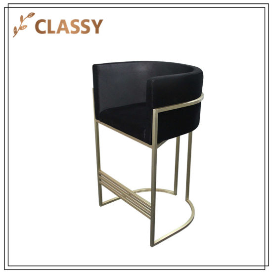 Miraculous China Stainless Steel Dining Furniture Bar Chair With Foot Machost Co Dining Chair Design Ideas Machostcouk