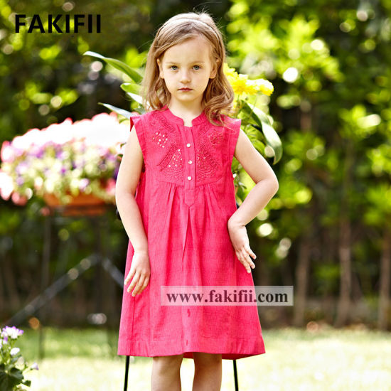 Factory Cutomised Kid Clothes Boutique Fashion Girl Casual Cotton Dress