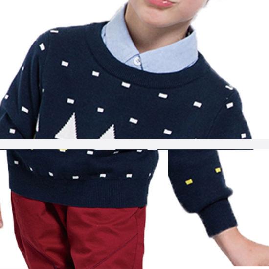 OEM Knitted Cotton Cardigan Child Kids Boys School Sweater