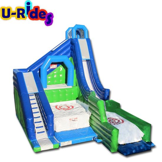 inflatable cliff jump inflatable slide inflatable combo with air bag for rental pictures & photos