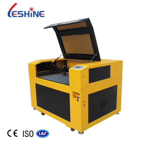 100W CO2 Laser Cutting Machine for Plastic Sheet Card Leather Wood Felt Clothes 6090 Laser Engraving Machine Price