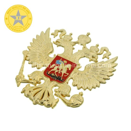 3D 2D High Quality Gifts Russia Military Award Double Eagle Sign Medal Badge