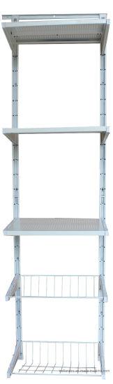 Modern White Powder Coaed Modular Wall Mounted Storage Metal Sheet Shelving  System