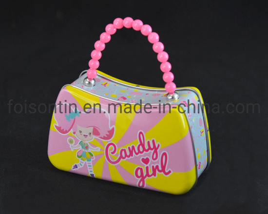 OEM High Quality Small Tin Handbag for Candy pictures & photos