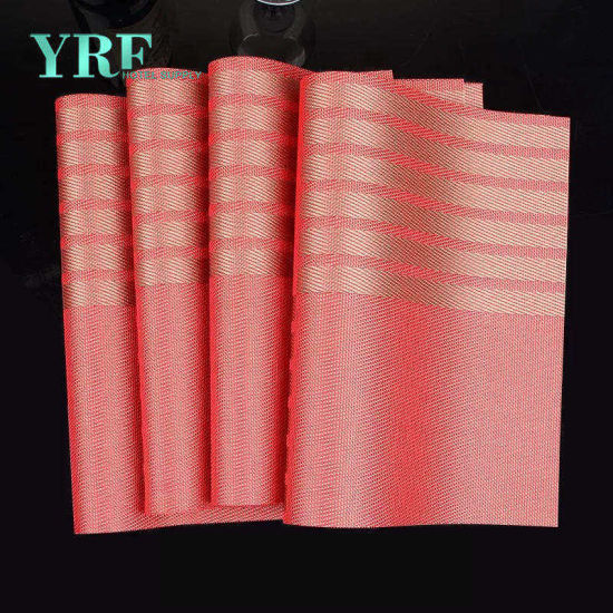 China Yrf Easy Clean PVC Vinyl Fabric Table Placemat - China