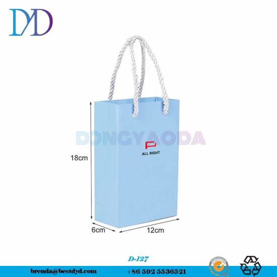 Printed Packaging Recycled With Ribbon Handles Cost Of Paper Bag For Shipping