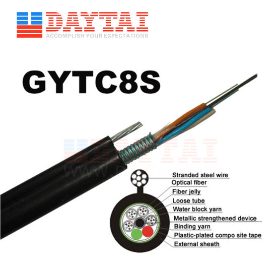 Aerial Self-Supporting GYTC8S Fiber Optic Cable