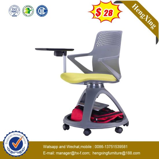 Office School Library Training Plastic Swing Chair with Writing Pad pictures & photos
