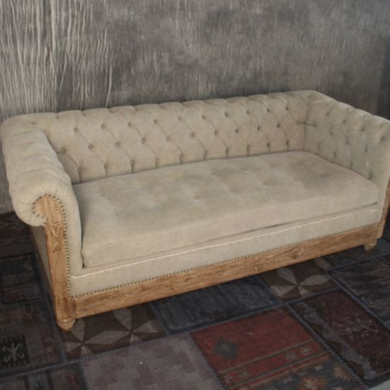Chesterfield Sofa With Accent Chairs.Living Room Fabric Accent Wood Frame Tufted Chesterfield Sofa
