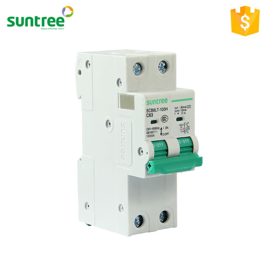 Suntree Supplier Single Phase RCD/RCBO/RCCB Price 10ka Residual Current Circuit Breaker pictures & photos