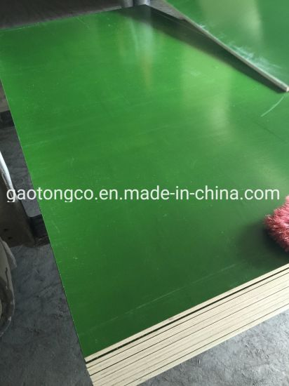 Waterproof 18mm Green PP Plastic Coated Marine Plywood for Construction Materials