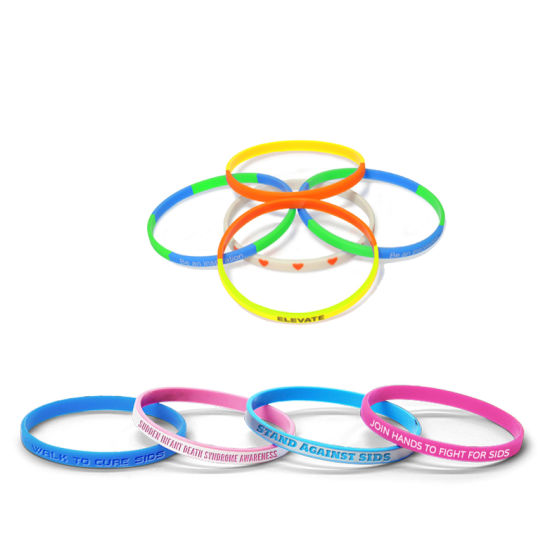 Silicone Micro Wristbands Bracelets pictures & photos