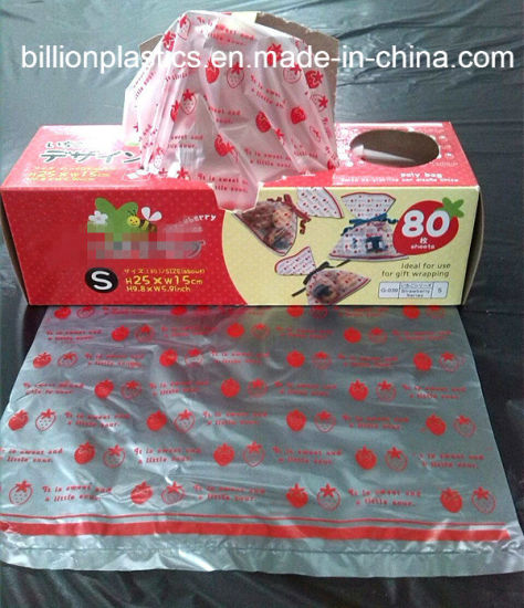 HDPE Gift Bag Plastic Rolled Bag Food Bag Bread Bag pictures & photos