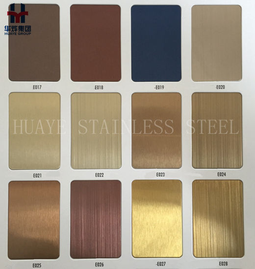 High Quality Pvd Plating Stainless Steel Sheet Plate For Hotel Decor