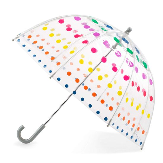 Kid's Clear Manual Open Bubble Umbrella with Easy Grip Handle