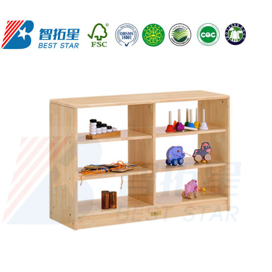 Preschool Kids Toy Storage Cabinet, Baby Cubby display and Storage Wooden Rack and Cabinet, Children Care Center Furniture, Playroom Furniture Toy Cabinet