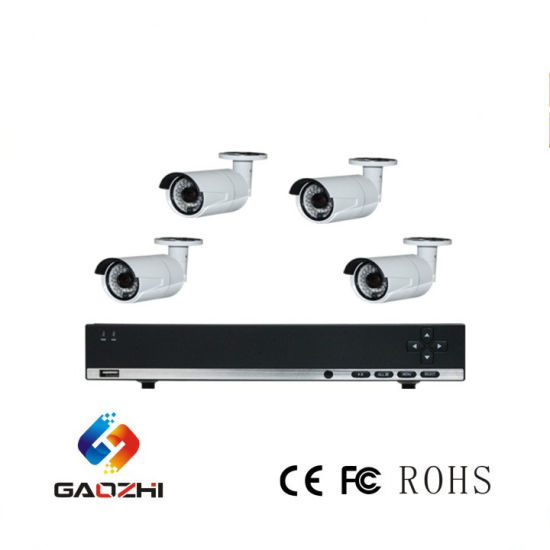 High Quality Cost Effective CCTV Camera System 4CH NVR Kit CCTV System  Supports 2 SATA HDD