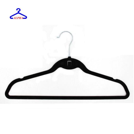 Simple Style Premium Velvet Hangers with Cascading Hook