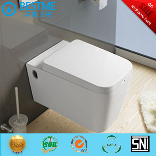 Middle East Vitreous China White Ceramic Sanitary Ware Wall Hung Toilet Bc-2370