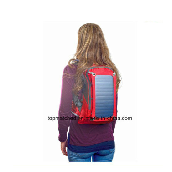 Running Hydration Water Backpack Hiking Climbing Camping Backpack Bag with Solar Panel pictures & photos
