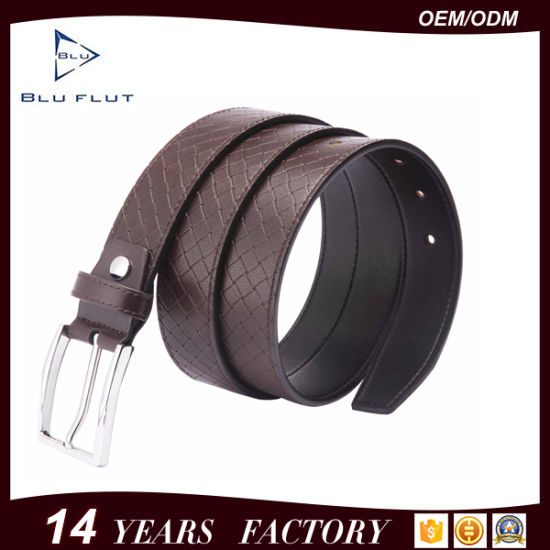Factory Wholesale Cheap Price Brown Leather Mens Waist Belts