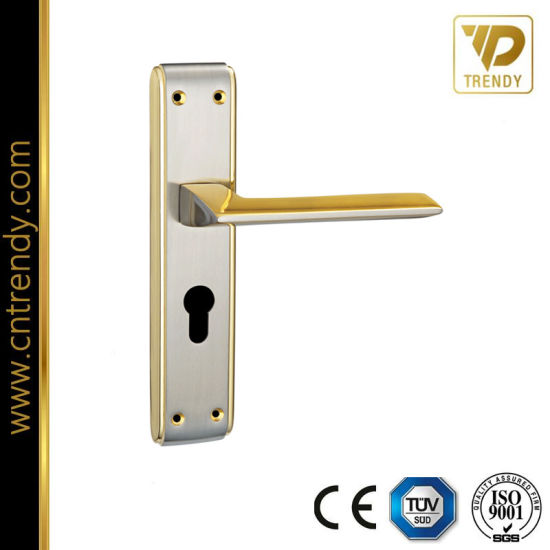 Fast Moving Short Plate Handle Exterior Door Lock Handle (7018 Z6323)