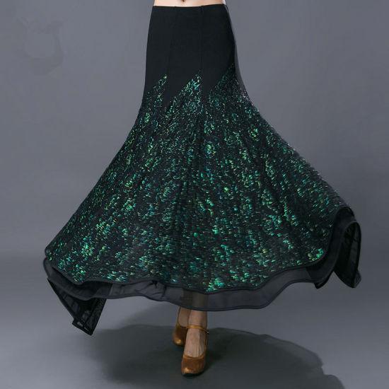 d430cf49c China Ballroom Dance Skirt Modern Standard Performance Skirt for ...