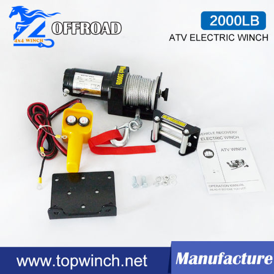 ATV off-Road Electric Winch with 2000lb Pulling Capability