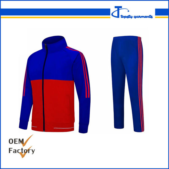 Custom Made Tricot Track Suits, Guangzhou Fashion Sport Men's Track Suit