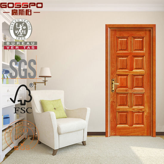 China Swing Open Style And Entry Doors Type Interior Wood Door