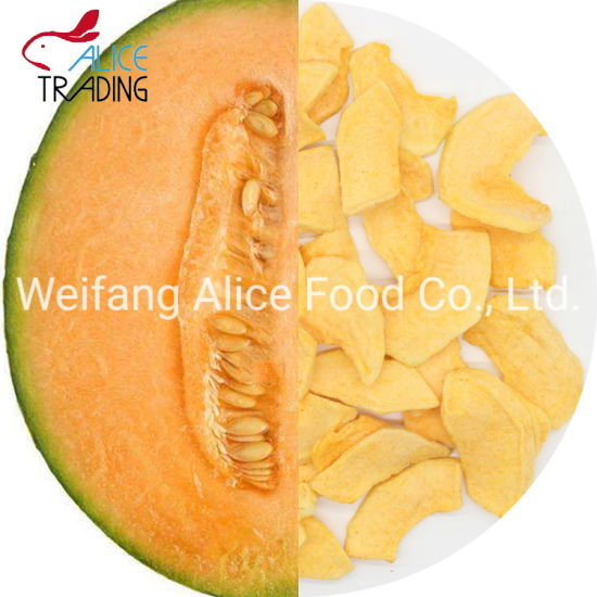 Chinese Fried Fruit Snack Vacuum Fried Cantaloupe Slice