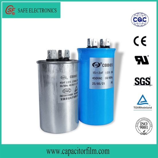 Cbb65 AC Motor Oil Filled Capacitor for Air Condition