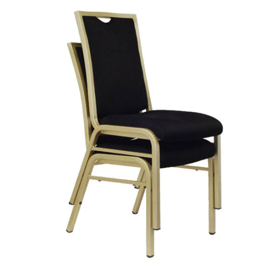 Wholesale Furniture Modern Aluminum Frame Fabric Upholstered Hospitality Dining Chair